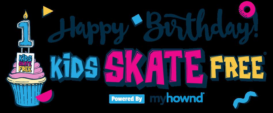 Kids Skate Free 1 year banner