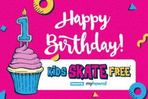 Kids Skate Free 1st Birthday